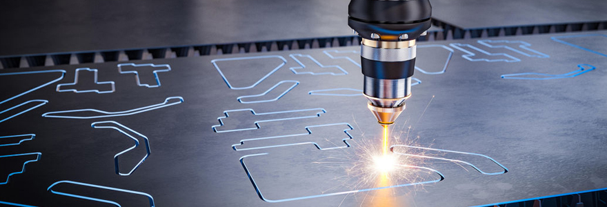 Gravure laser metal